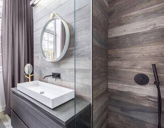 bathroom trends wood