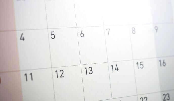 calendrier disponibilité