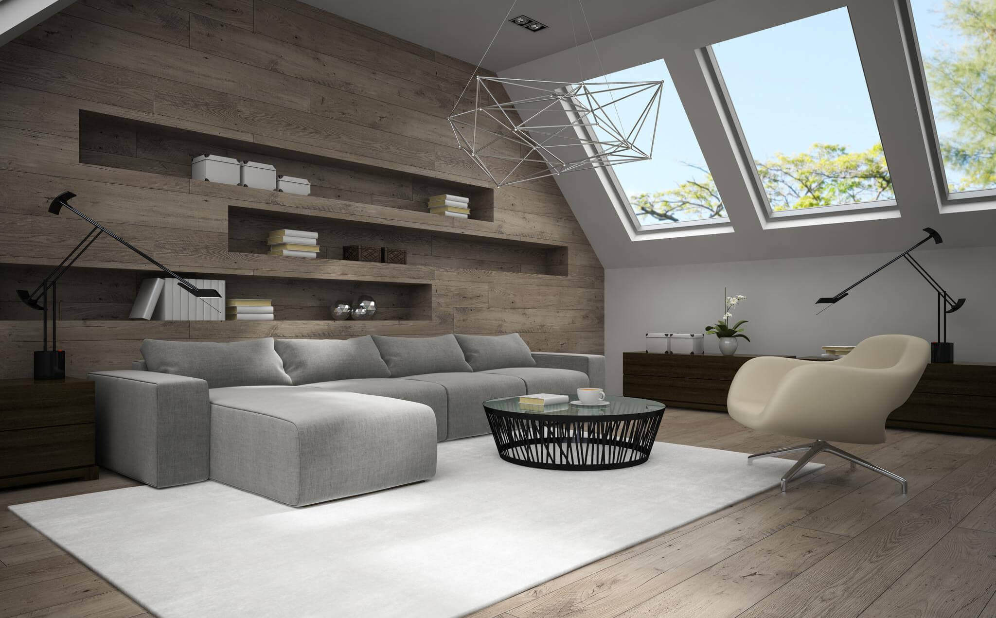 eclairage comble amenagement cuisine combles chambre sous les combles en total look blanc. Black Bedroom Furniture Sets. Home Design Ideas