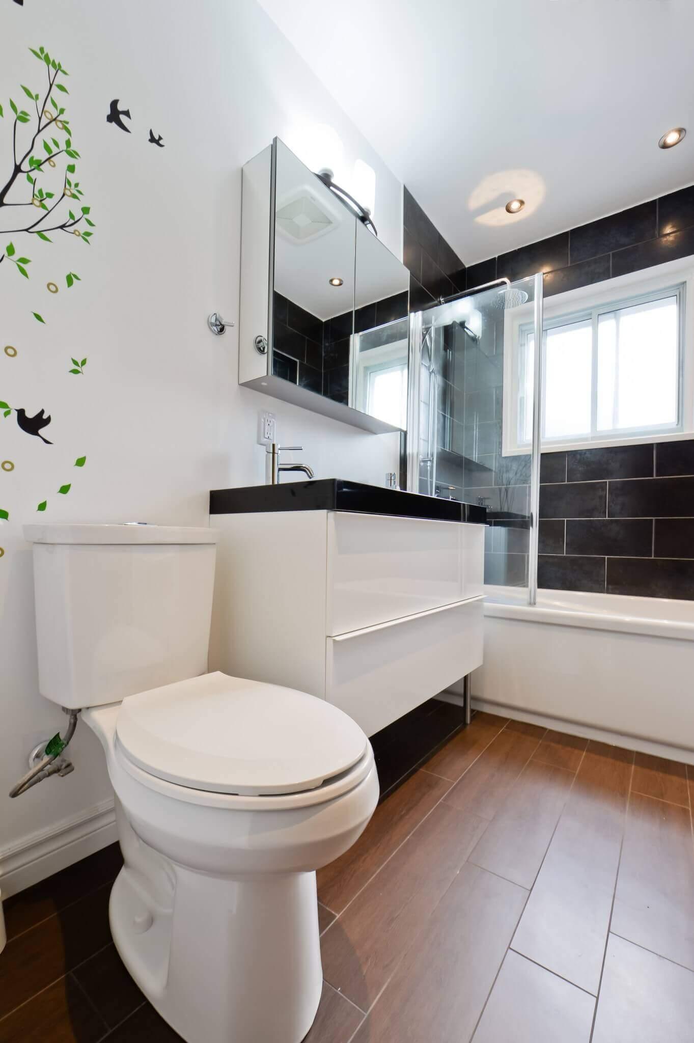 toilette et vanite salle de bain