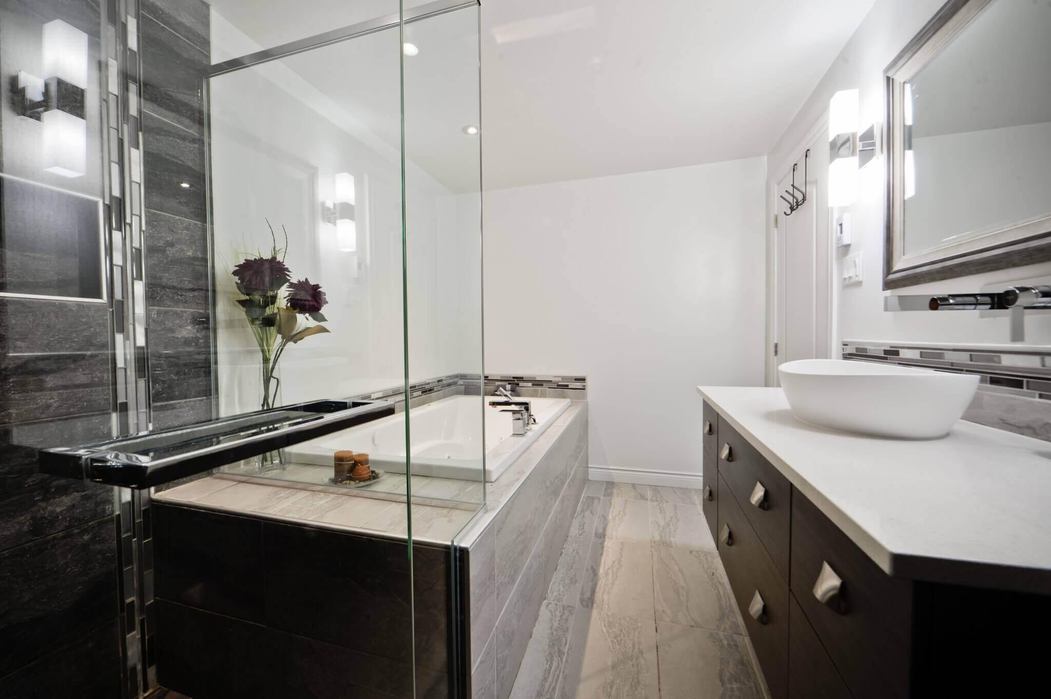 rénovation de salle de bain moderne
