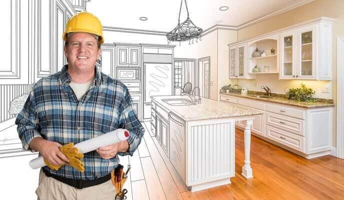 entrepreneur cuisine en construction
