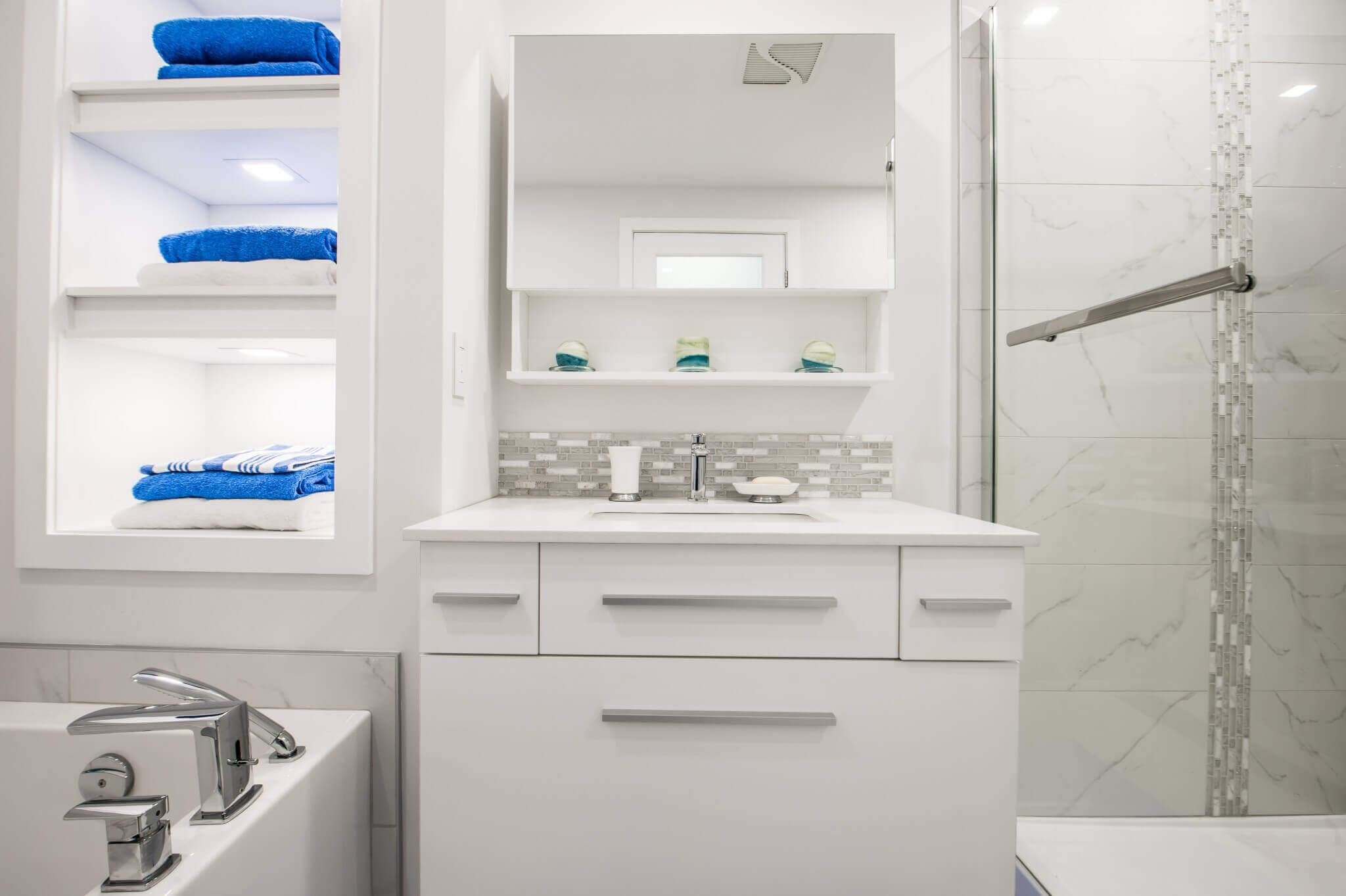 rangement armoires salle de bain