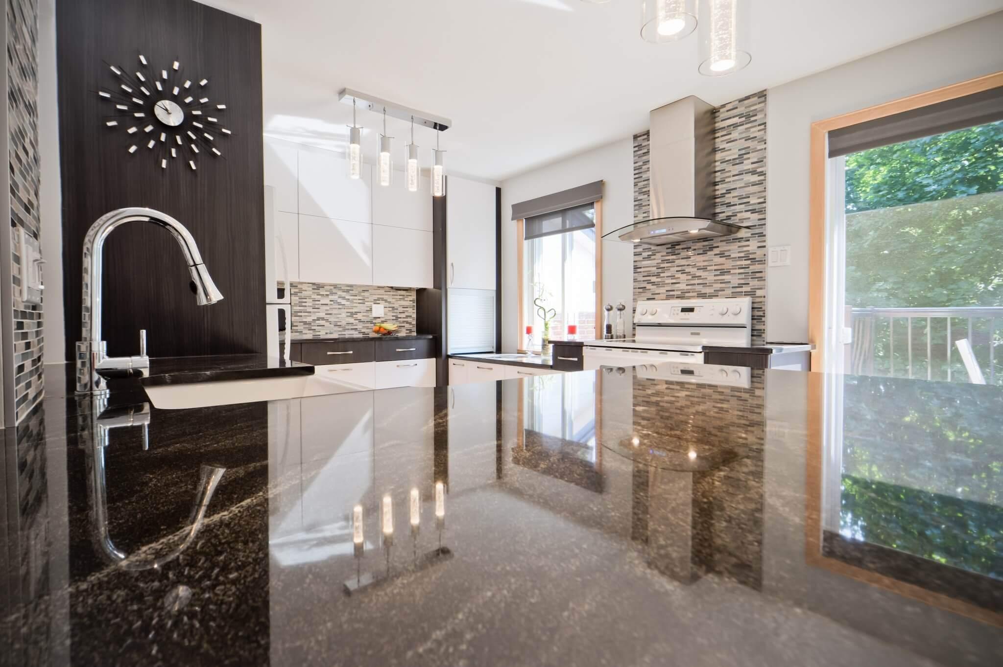comptoirs de granite cuisine
