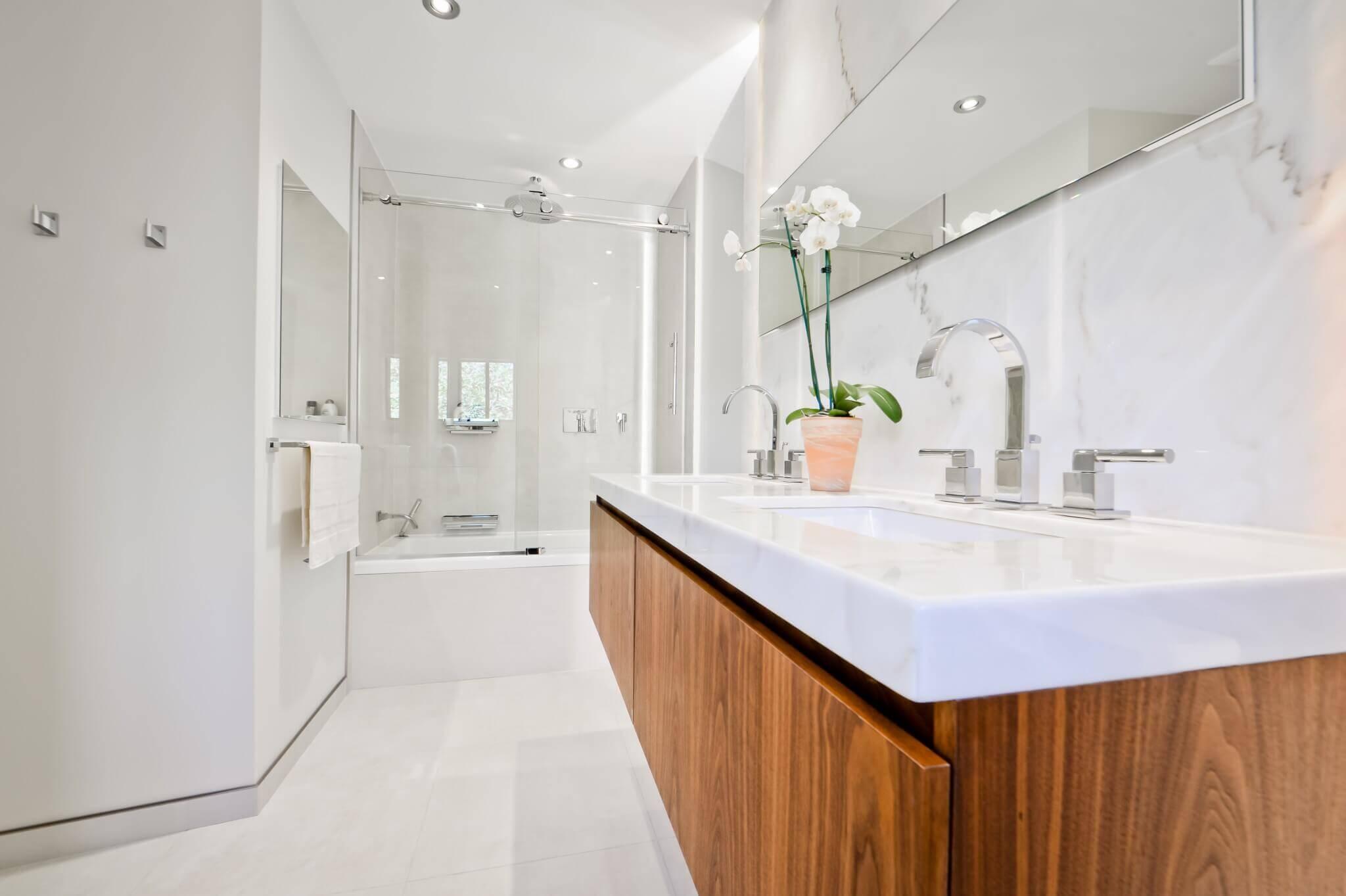vanité salle de bain style rustique