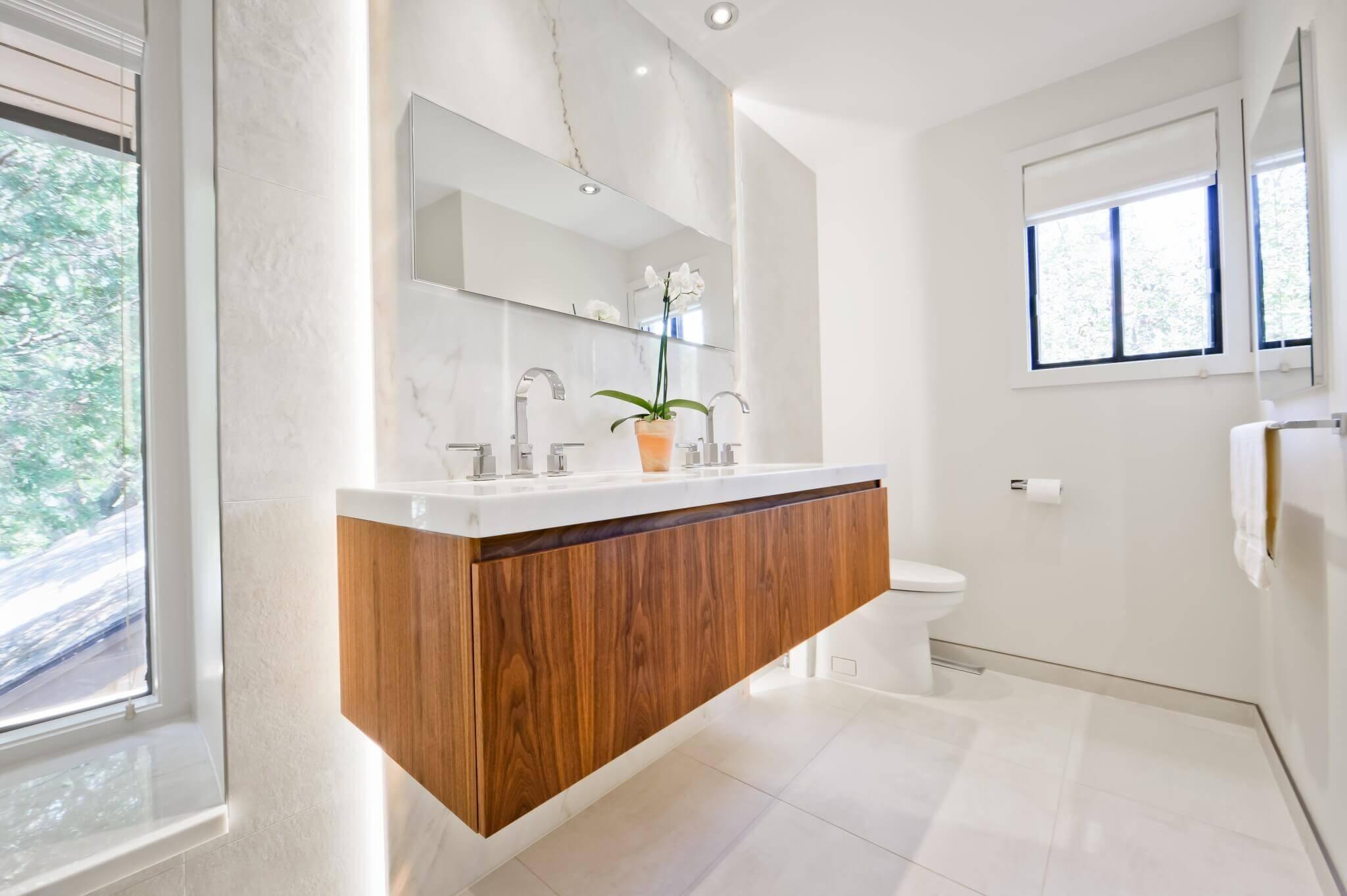 comptoir de salle de bain