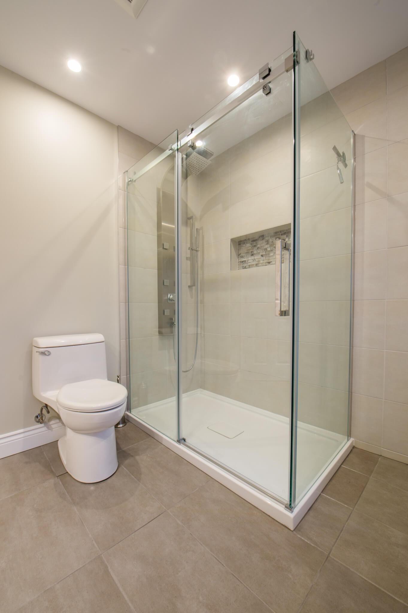 douche en verre