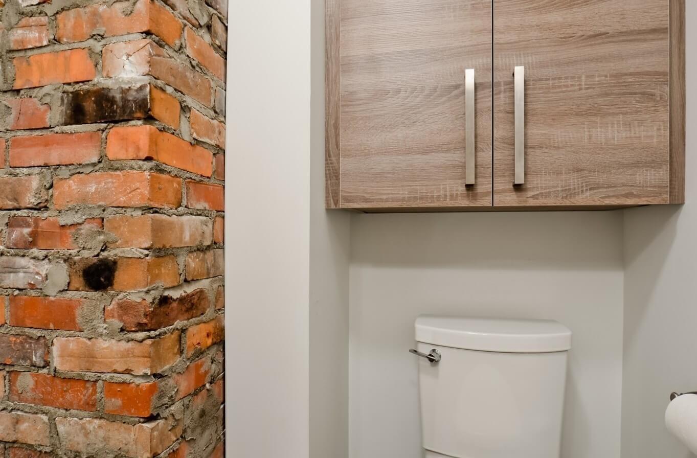 briques salle de bain