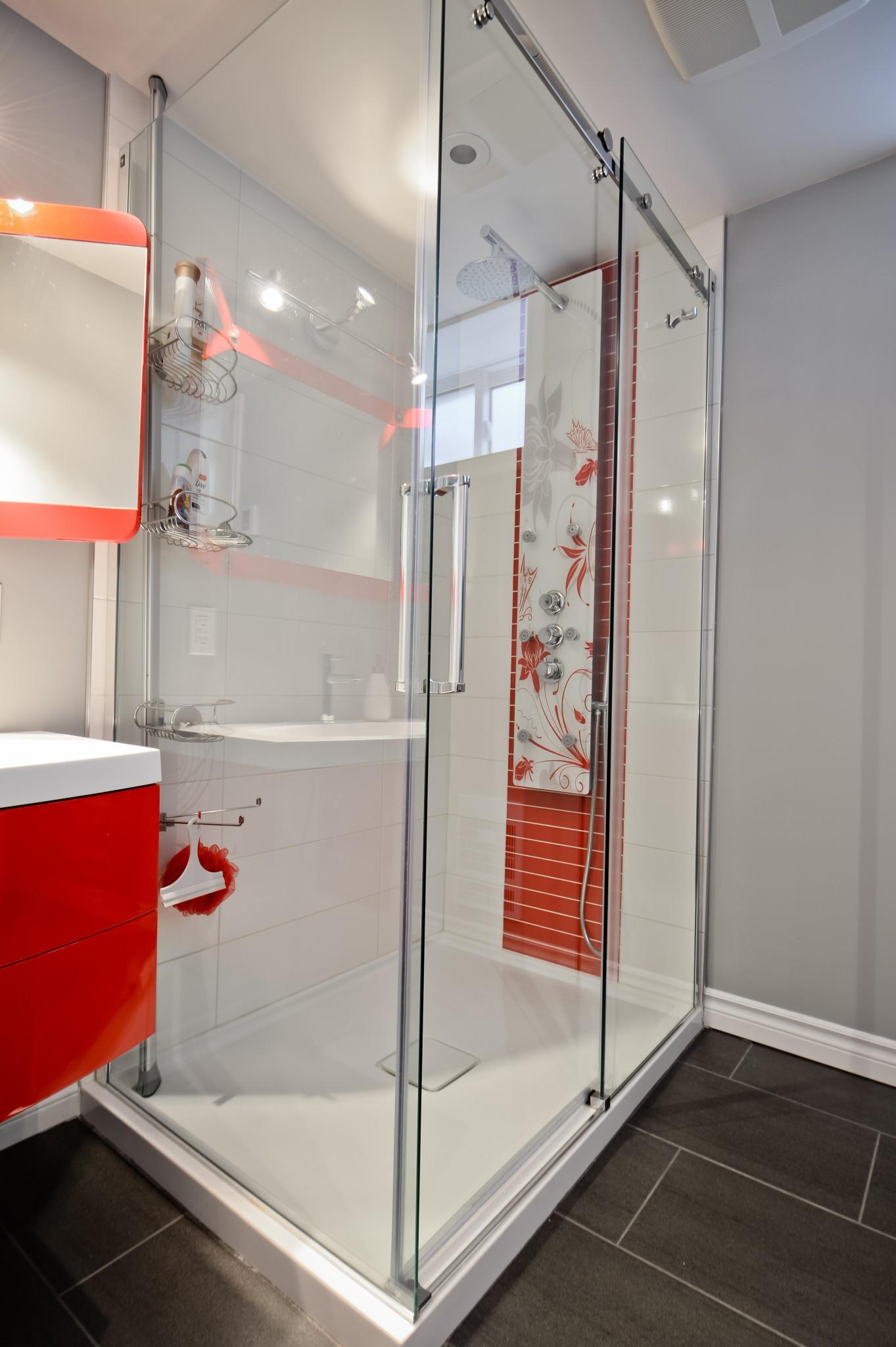 douche sous-sol