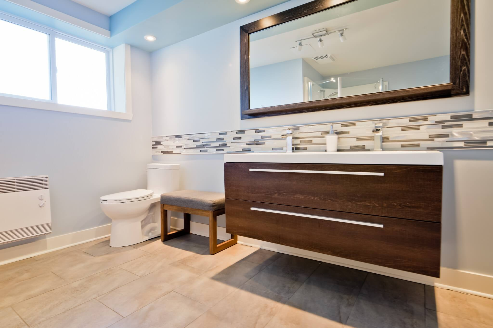 Home Addition Carles Project Classic Extension Modern Bathroom