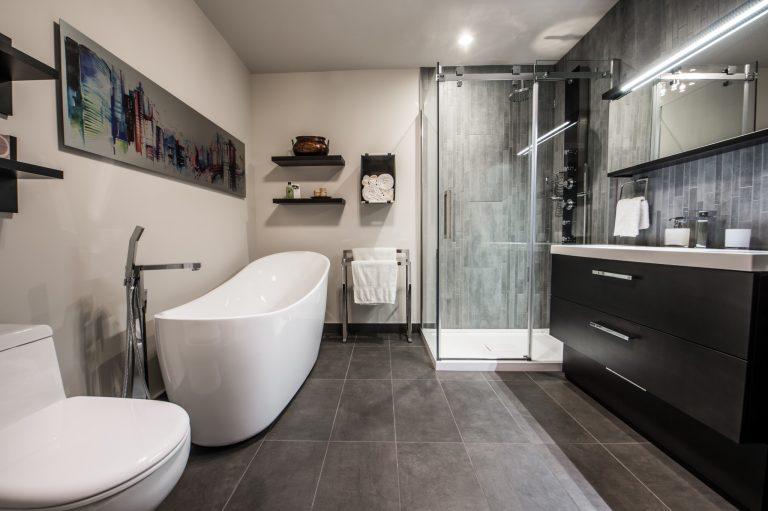 Leduc | Salle de bain & chambre des maîtres