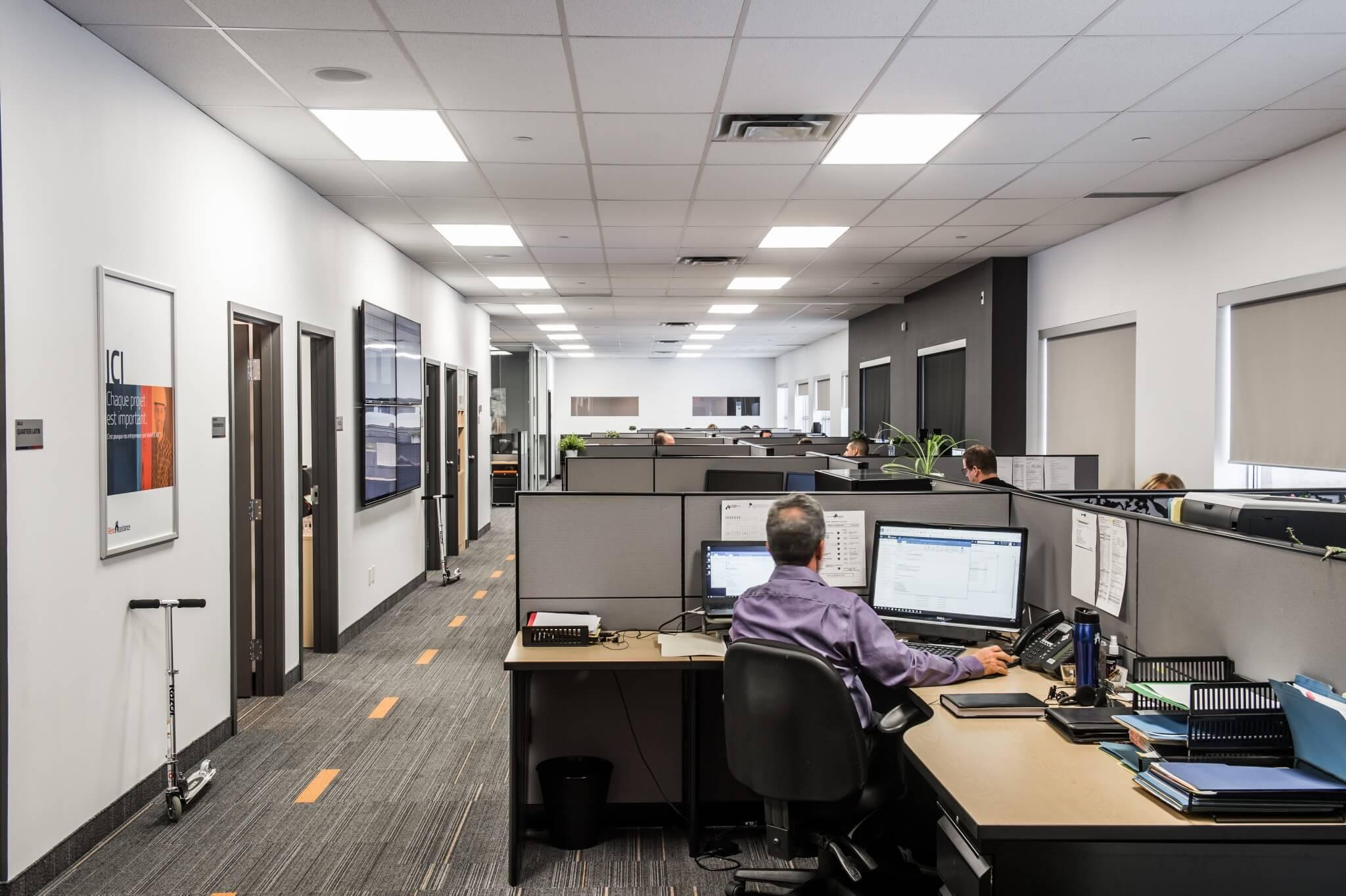 Rénovation de bureau cubicules