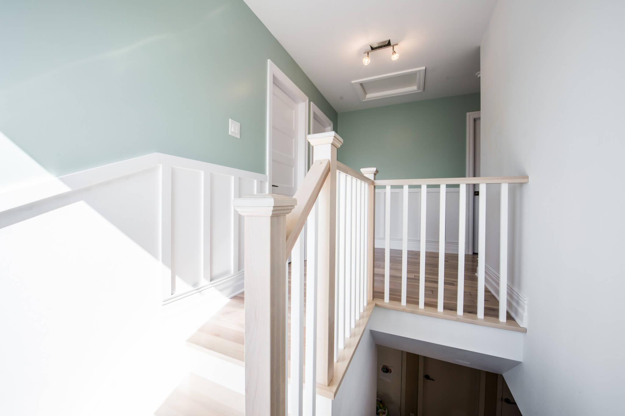 cage d'escalier agrandissement maison