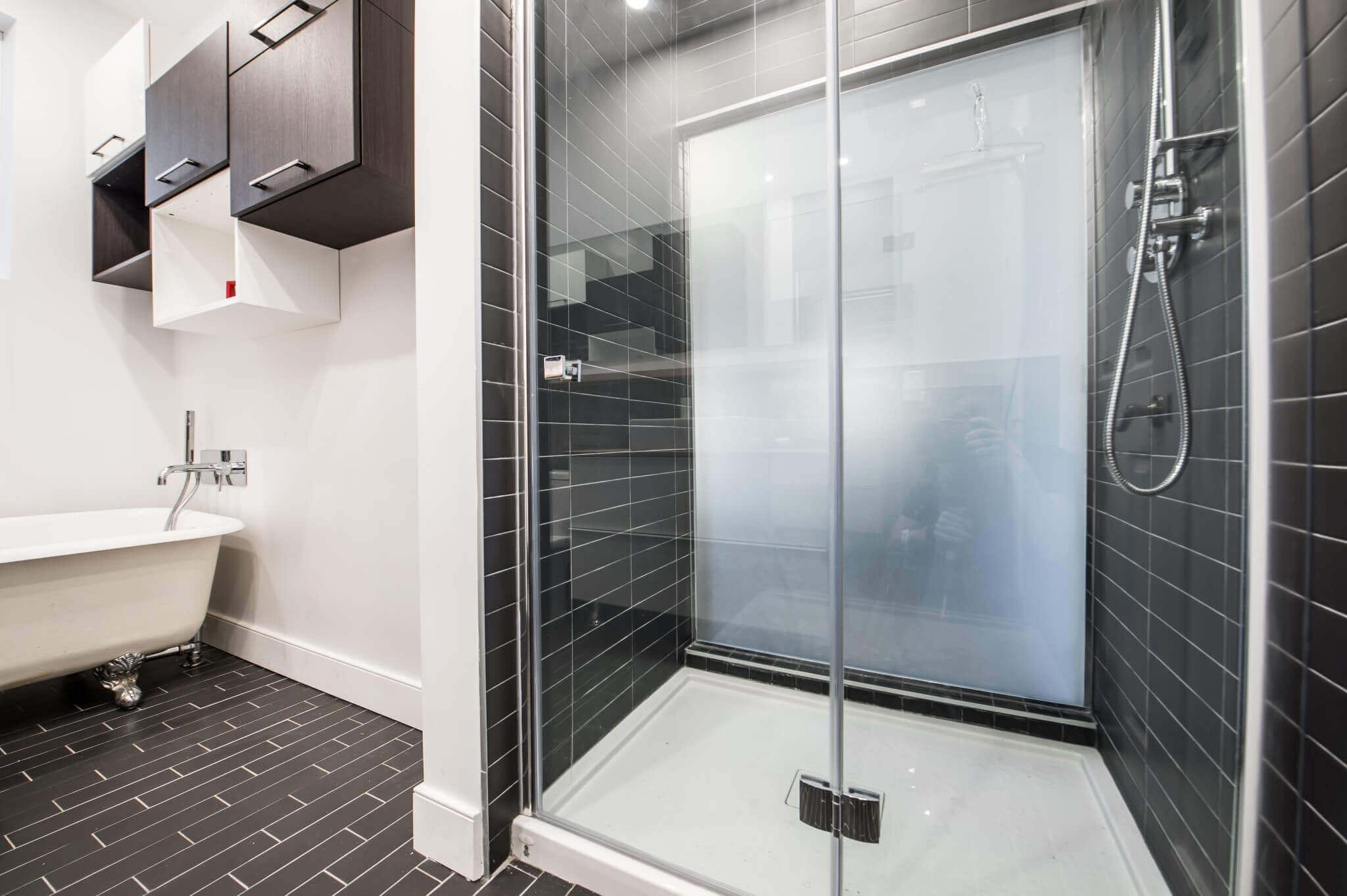 douche de verre