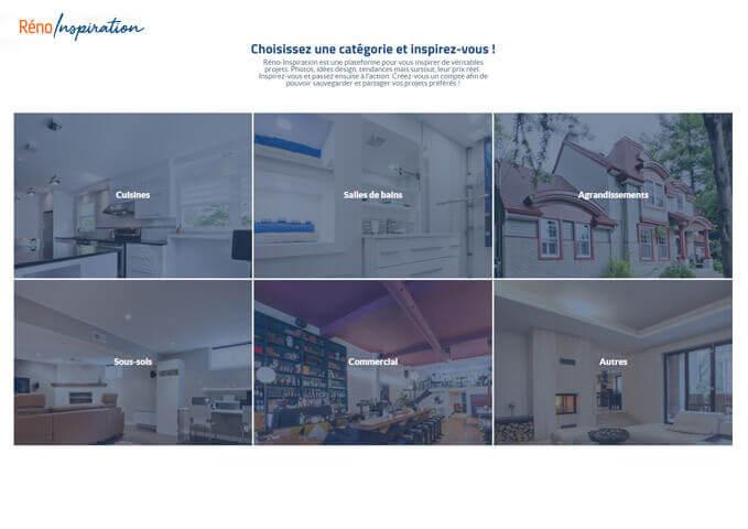 Page catégories Réno-Inspiration