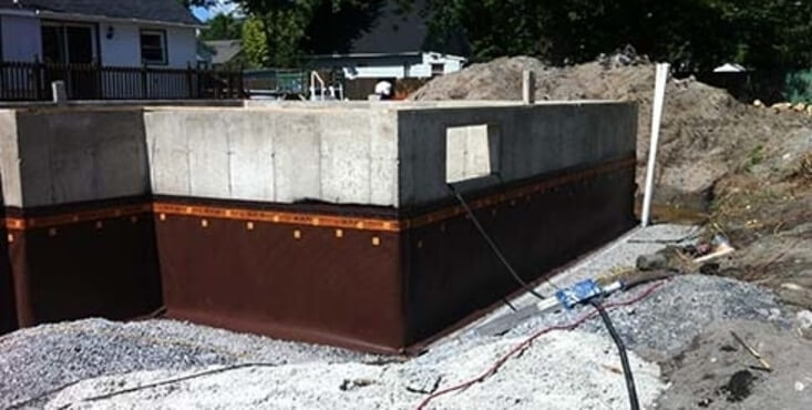 House foundation french drain