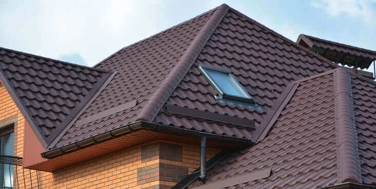 residential brown shingle roof