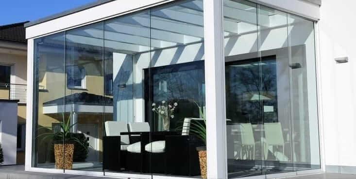 glass sunroom