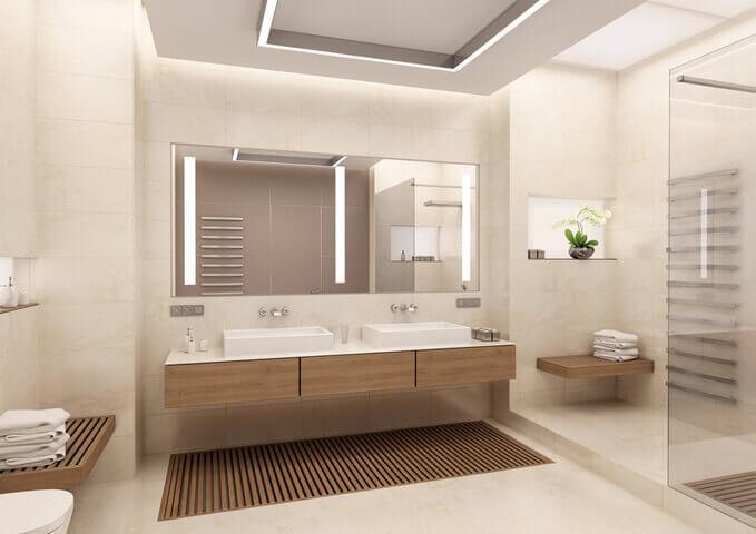 Salle de bain 10 tendances populaires en route vers 2018 - Salle de bain nature bois ...