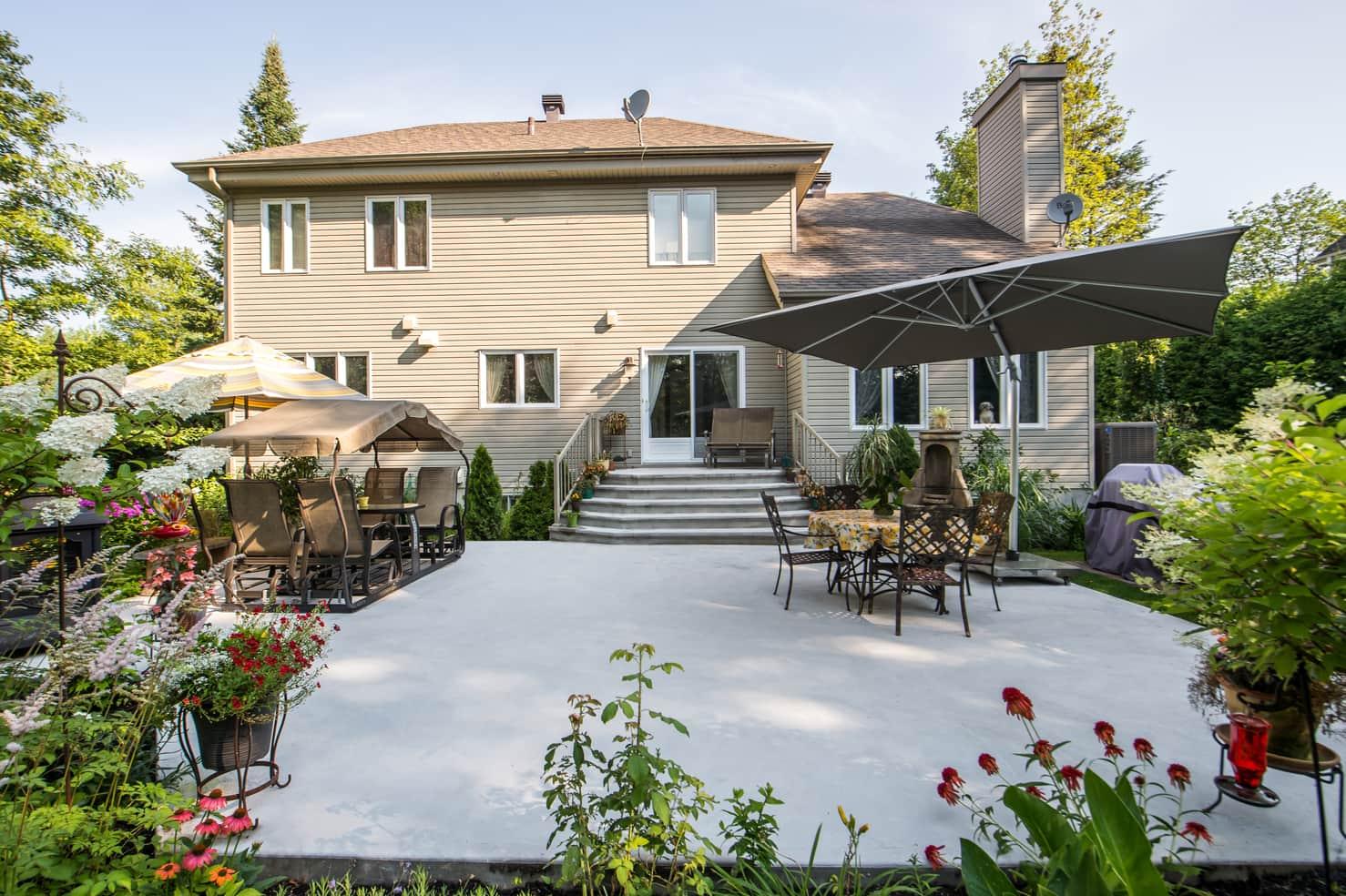 patio terrasse maison