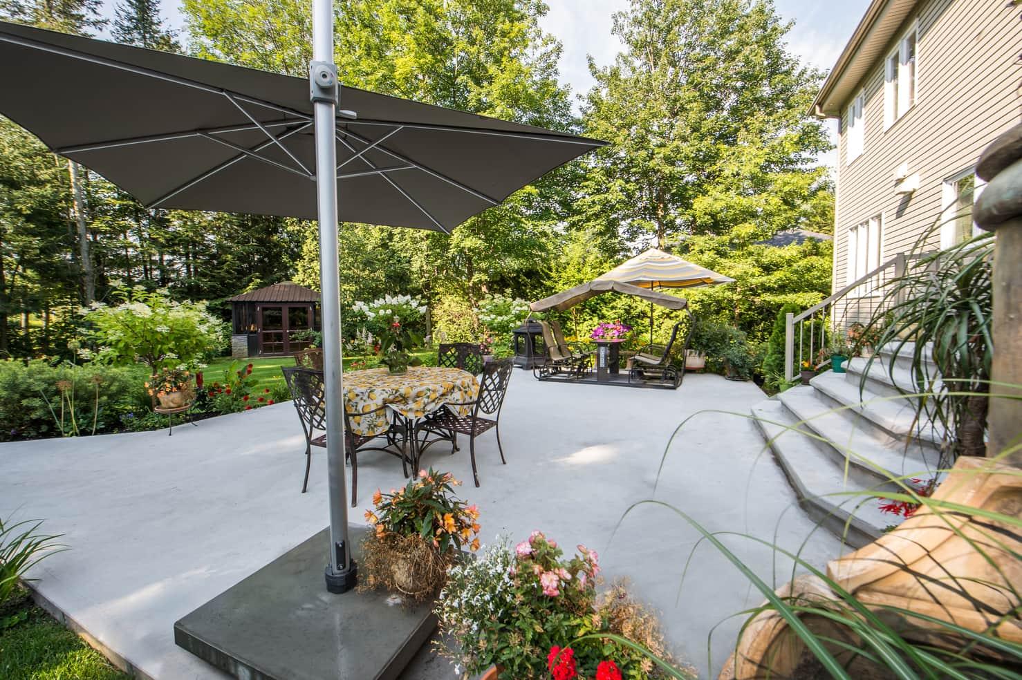 patio terrasse de maison