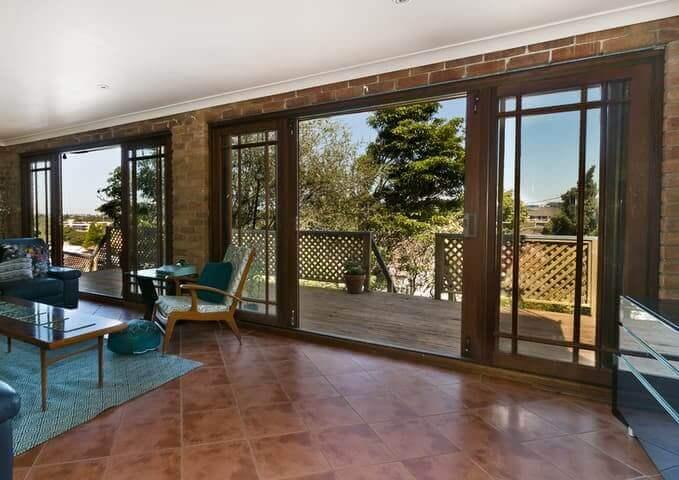 Porte-patio bois
