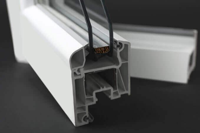 Fenêtre PVC vue en coupe