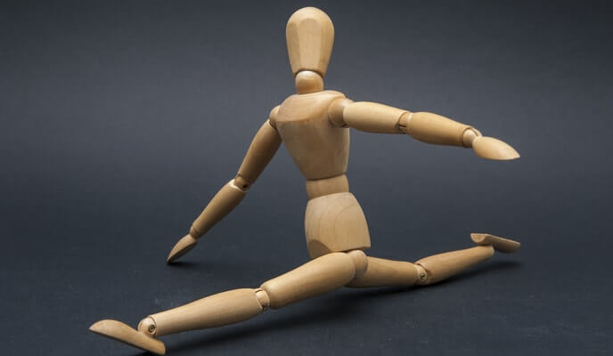 flexible wooden dummy splits
