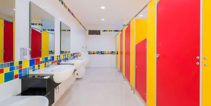 kindergarten bathroom
