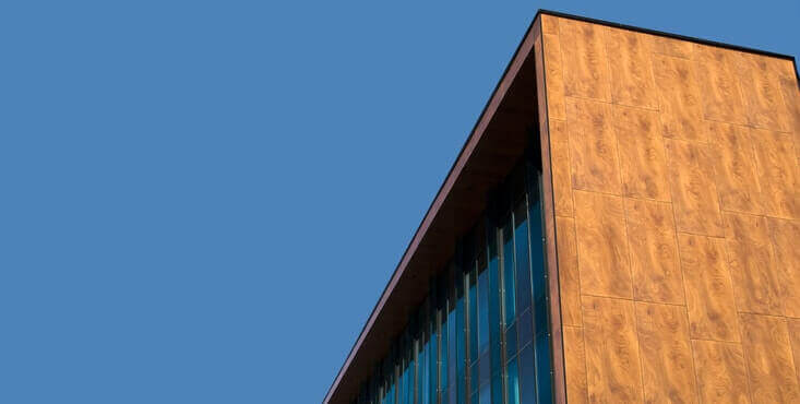 commercial building wood siding