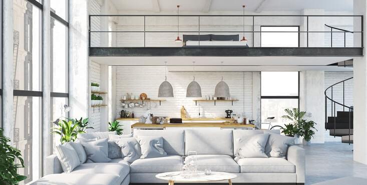 interieur de loft luxueux
