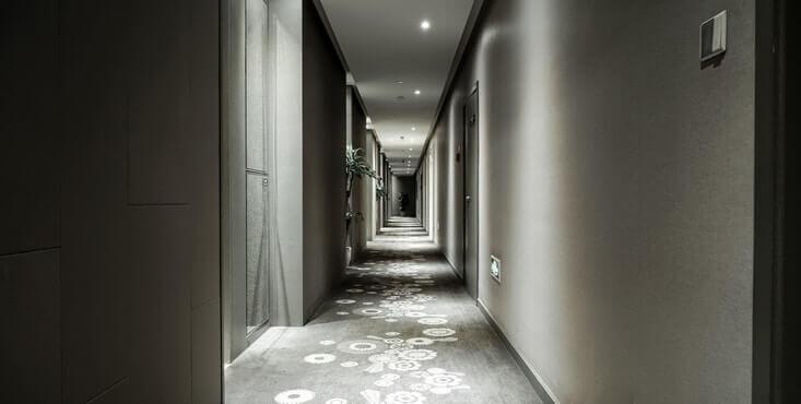 new hallway in a condo