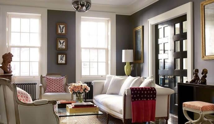 salle familiale maison de ville Brooke Shields New-York