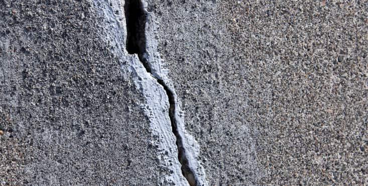 fissure dans beton