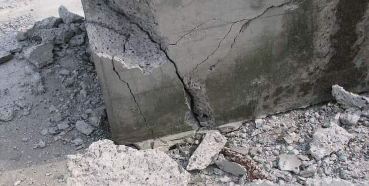 fissure fondation de beton