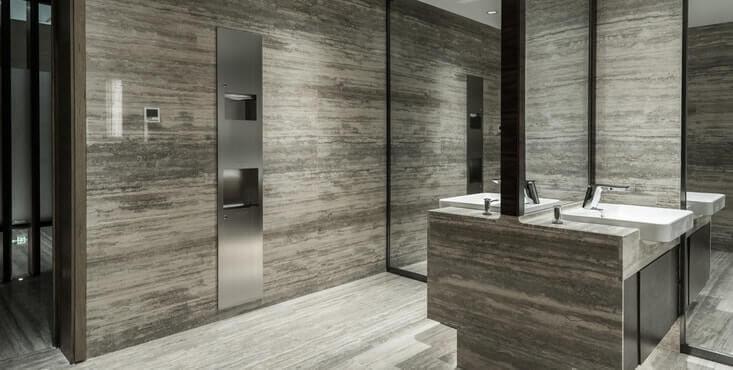 modern public restroom