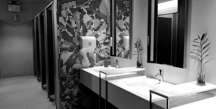 salle de bain design restaurant