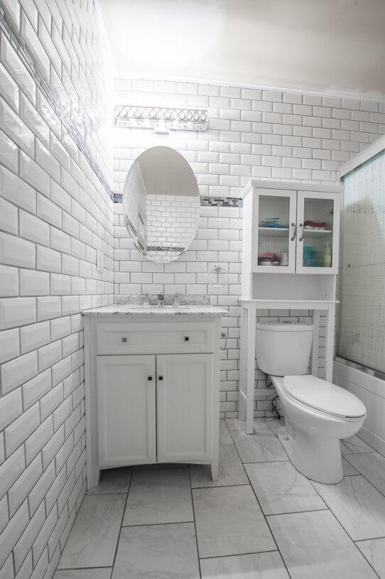 bathroom ceramic on wall
