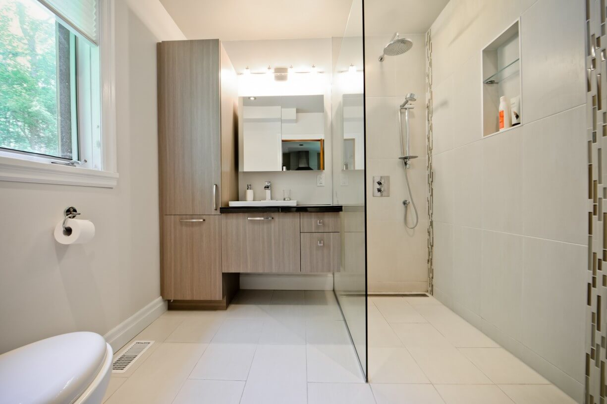 shower design in bathroom