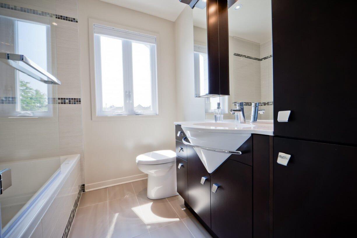 bathroom brown vanity