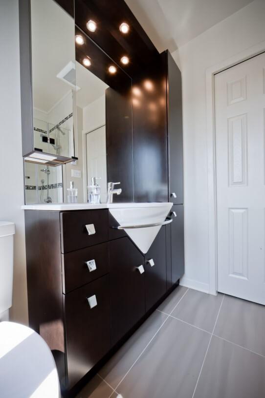 bathroom dark vanity