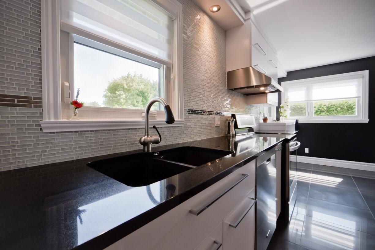 kitchen black counter