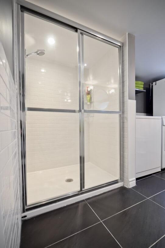 shower in basement
