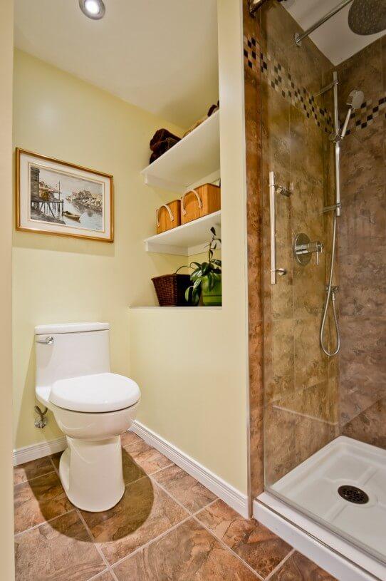 bathroom in a basement
