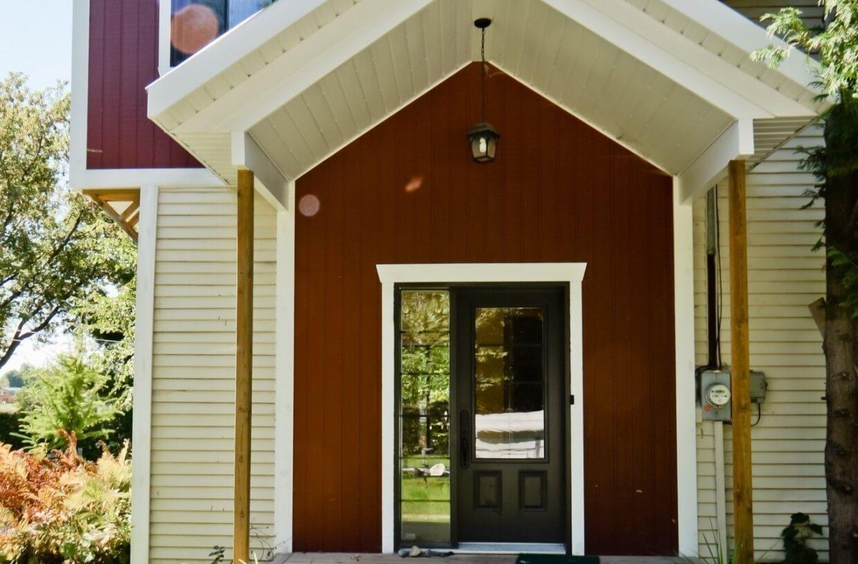 house in the woods front door