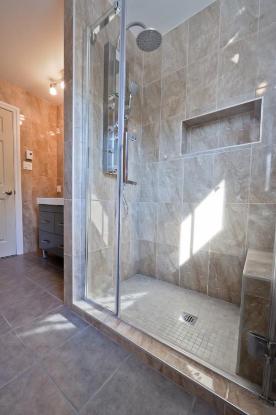 bathroom shower display