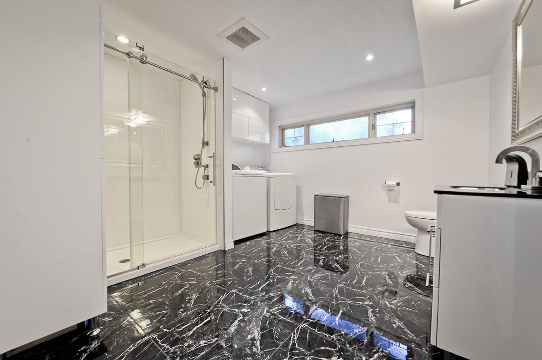bathroom unique floor
