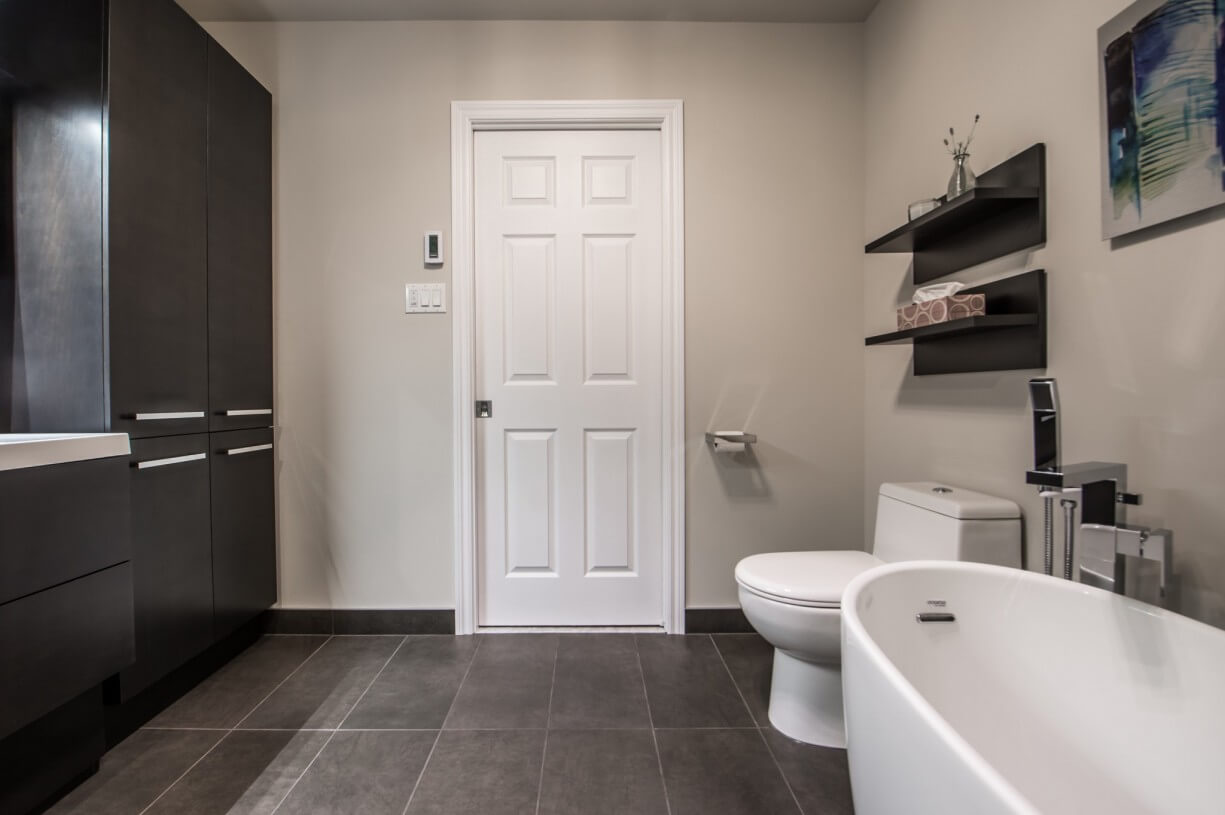 large bathroom entrance