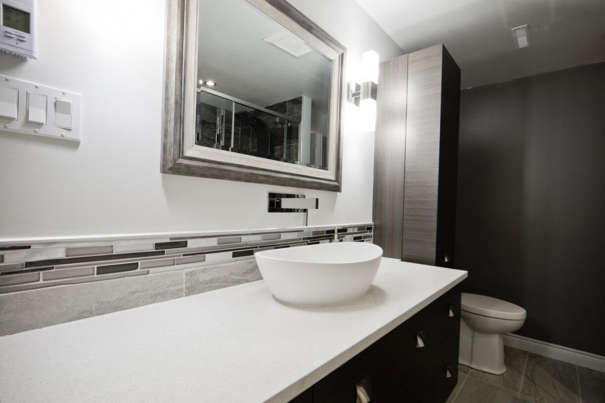 modern bathroom counter