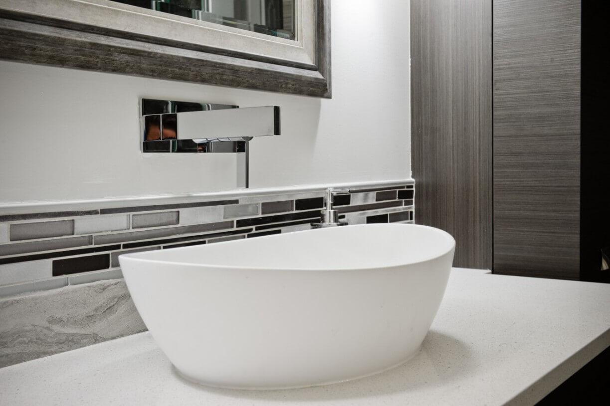 modern white sink